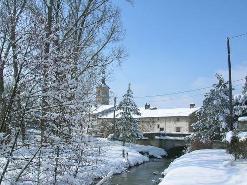 Saint Oger sous la neige