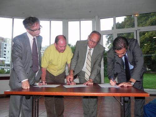 Signature de la Charte d'Engagement du Plan Climat, 20 septembre 2010
