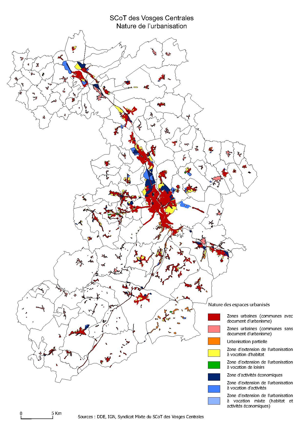 Nature de l'urbanisation